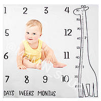Ростомер детский Пелёнка Подарок новорожденному для фотосессии Жирафик