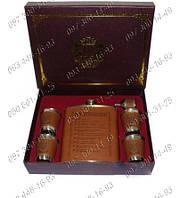 """Оригинальный подарочный набор-фляга+4 стаканчика+мини лейка """"10 алкогольных заповедей"""" TZ-805"""