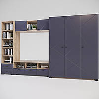 Комплект мебели для гостиной Х-Скаут-14 графит мат
