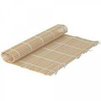 Бамбуковый коврик для ролл 24смх24см, ламели клуглые Thunder арт.10436