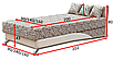 Мягкая кровать Сафари 140 Вика, фото 4