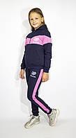 Подростковый спортивный  костюм девочке с Барби вставками, 140-146-15 2-158-164 рост, Украина