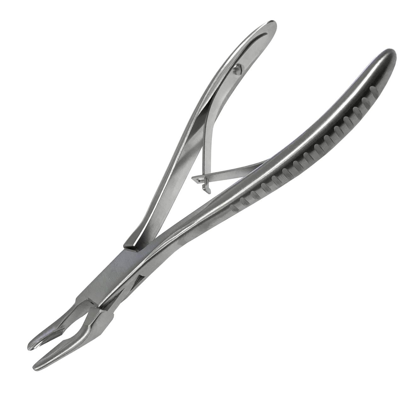 Щипцы кусачки костные изогнутые по Jansen. Размер 17 см х 4 мм SURGIWELOMED