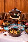 Подача шашлыка в садже однозначно добавит изысканности вашему столу!