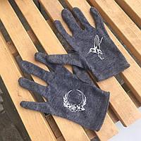 Перчатки темные Колибри