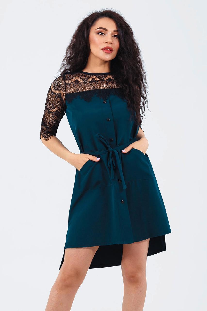 Вечернее женское платье Adelin, темно-зеленый