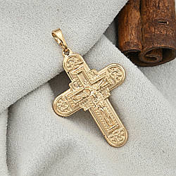 Крестик Xuping для цепочки до 2 мм 71309 размер 31х22 мм вес 3.6 г позолота 18К