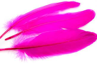 Декоративные перья для рукоделия, 30шт. Длина 17-21 см. Цвет Ярко-розовый