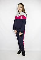 Подростковый спортивный  костюм для девочки с малиновыми вставками, 140-146-15 2-158-164 рост, Украина