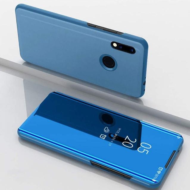 Чехол Mirror для Huawei P Smart Plus книжка Зеркальная синий
