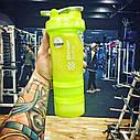 Шейкер спортивный BlenderBottle ProStak с шариком 650 мл зеленый, фото 3