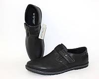 Демисезонная детская и подростковая обувь, черные туфли