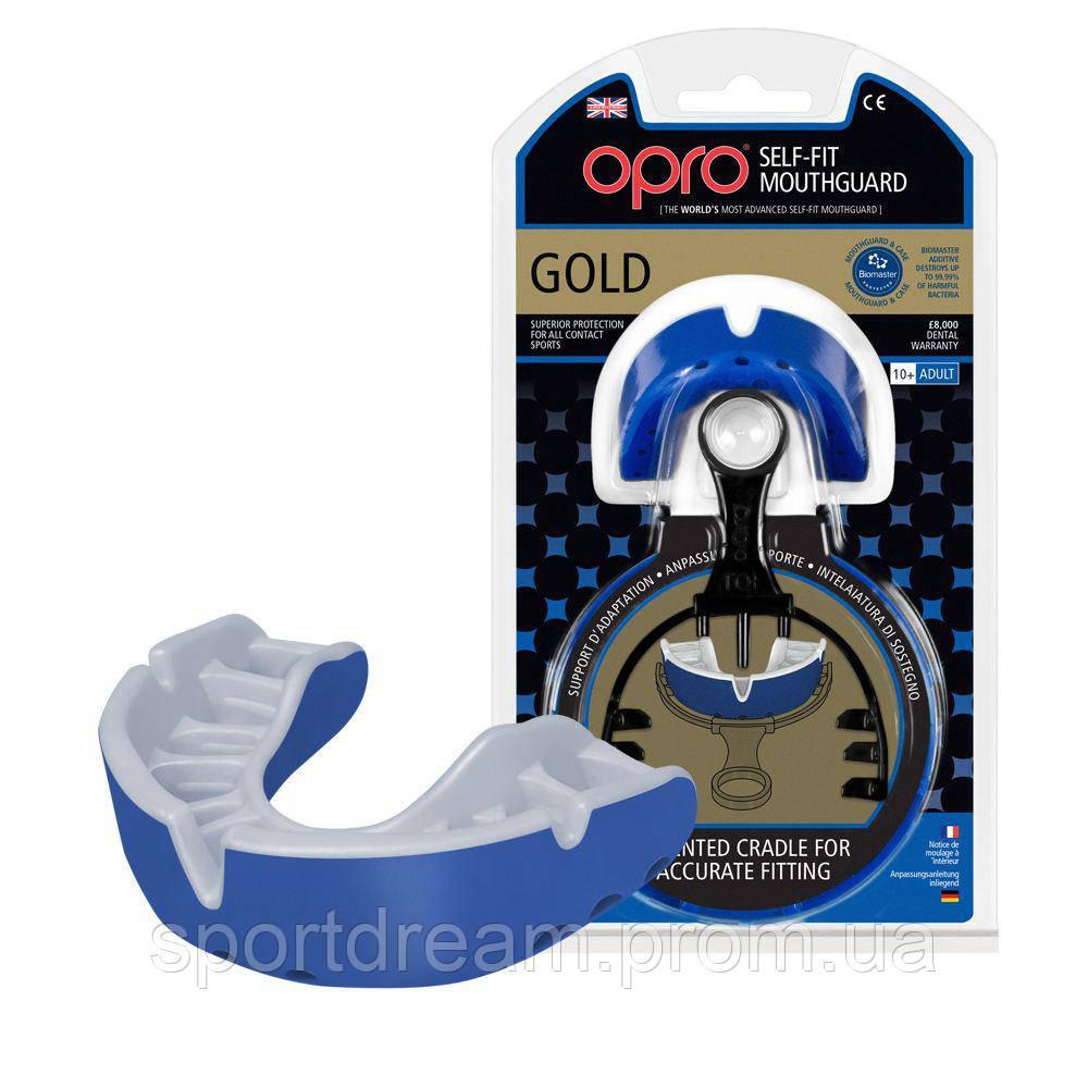 Капа OPRO Gold Series Blue/Pearl (art.002193002)