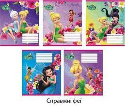 """Тетрадь 12 листов, линия Disney, Leader """"Настоящие феи"""""""