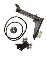 Переходник под роторную косилку для мотоблока (на ВОМ, металические ролики)