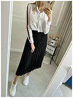 Рубашка Женская Длинный рукав, Женская рубашка с полоской на рукаве, Рубашка женская с отложным воротником длинный рукав,, фото 3