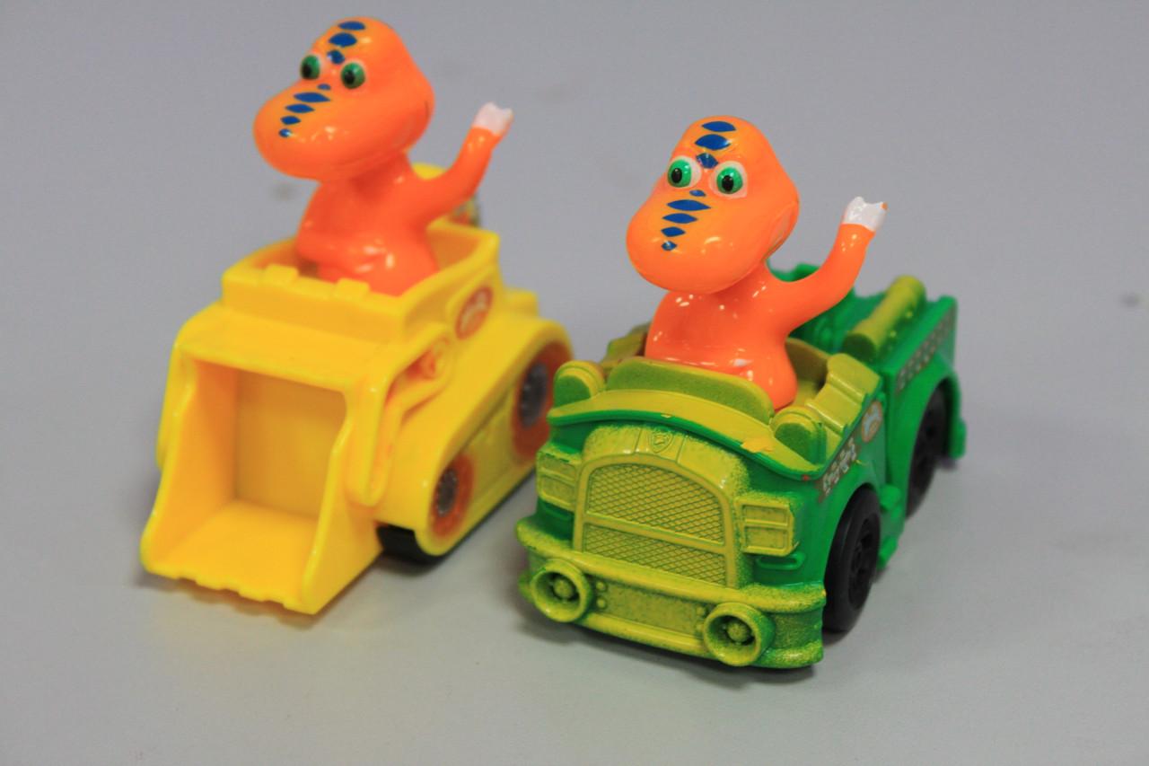 Детская машинка пластмассовая с дракончиком 1 шт