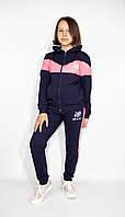 Подростковый спортивный  костюм на девочку с неоновыми вставками, 140-146-15 2-158-164 рост, Украина