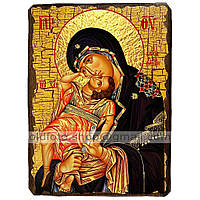 Взыграние Младенца Икона Пресвятой Богородицы ,икона на дереве 130х170 мм
