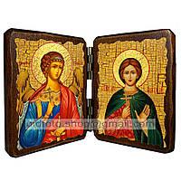 Именная икона по имени Анатолий Святой Мученик Никейский икона складень двойной деревянный 140х100мм