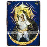 Остробрамская Икона Пресвятой Богородицы ,икона на дереве 130х170 мм