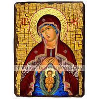 Помощница в родах Икона Пресвятой Богородицы ,икона на дереве 130х170 мм