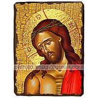 Икона Спаситель в Терновом Венце ,икона на дереве 130х170 мм