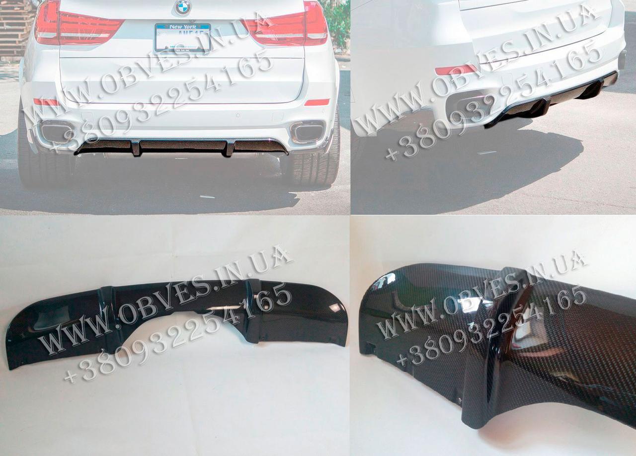 Карбоновый диффузор M-Performance заднего бампера BMW X5 F15