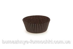 Одноразовые коричневые формочки для выпечки кексов, 40х24 мм