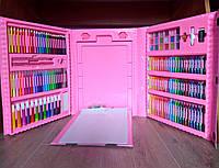 Набор для творчества 208 предметов, детский набор для рисования для девочек с мольбертом в чемоданчике