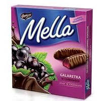 Мармелад Goplana Mella черная смородина в шоколаде ,190 г