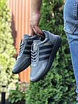 Мужские кроссовки Adidas Iniki (серо-черные) 9758, фото 2