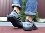 Мужские кроссовки Adidas Iniki (серо-черные) 9758, фото 3