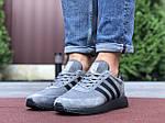Мужские кроссовки Adidas Iniki (серо-черные) 9758, фото 4