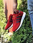 Мужские кроссовки Adidas Iniki (красные) 9762, фото 2