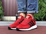 Мужские кроссовки Adidas Iniki (красные) 9762, фото 3