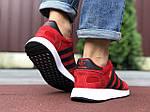 Мужские кроссовки Adidas Iniki (красные) 9762, фото 4