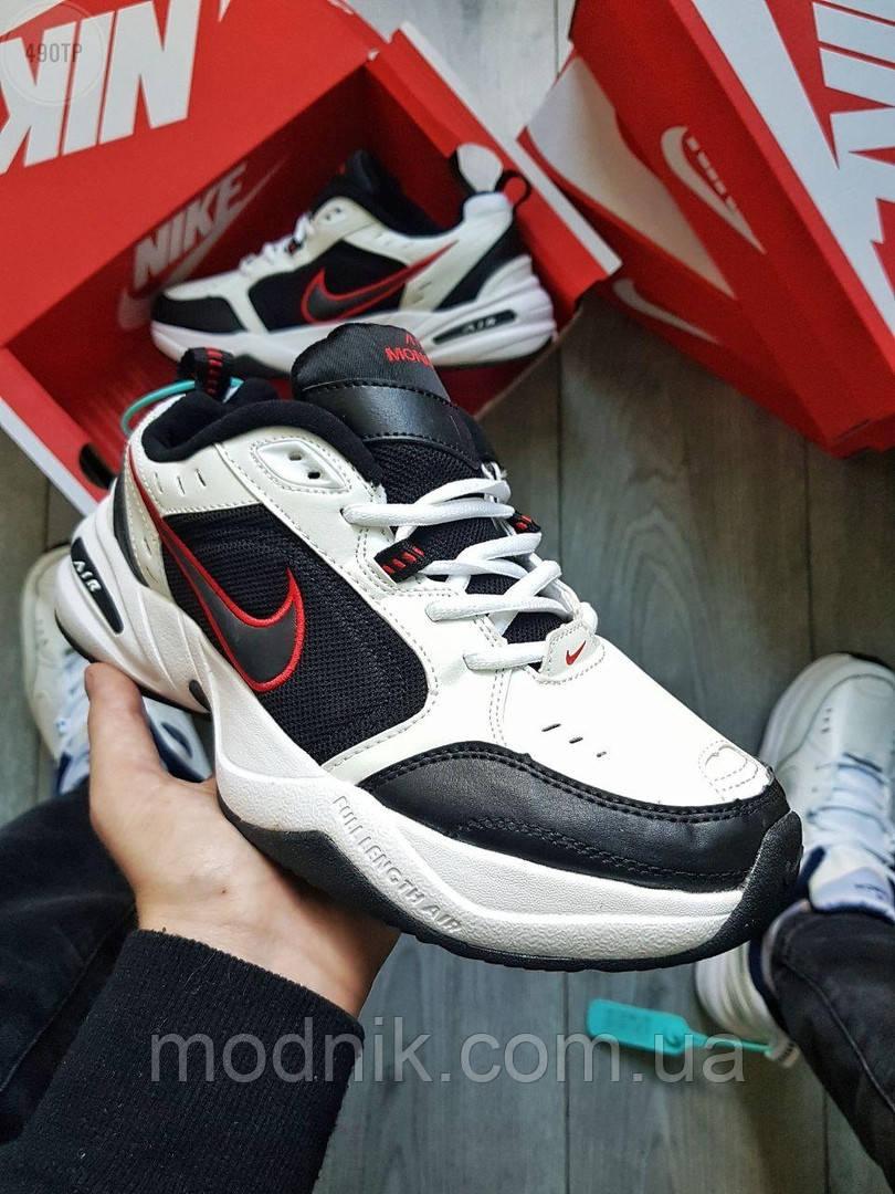 Мужские кроссовки Nike Air Monarch IV Black&White (черно-белые) 490TP