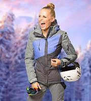 Куртка Freever женская серая с синим 7010