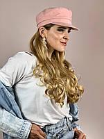 Кепи кепка  женская летняя  из льна пудровая