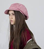 Кепи кепка объемная гаврош  женская  демисезонная с хлопковой подкладкой розовая пудра