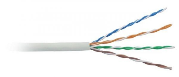 Кабель UTP Hyperline Cca Cat5E 24AWG x 4p Solid 0.51 305м