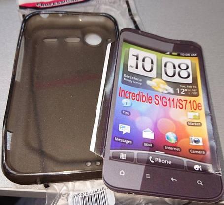NewTop TPU чехол-накладка для HTC Incredible S S710e G11 черная матовая, фото 2