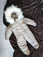 Комбінезон дитячий на овчині зима 68-74 розмір 0-9 міс, фото 1