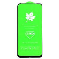 Защитное стекло 20D для Xiaomi Redmi Note 9 / Redmi 10X клей по всей поверхности (Black)