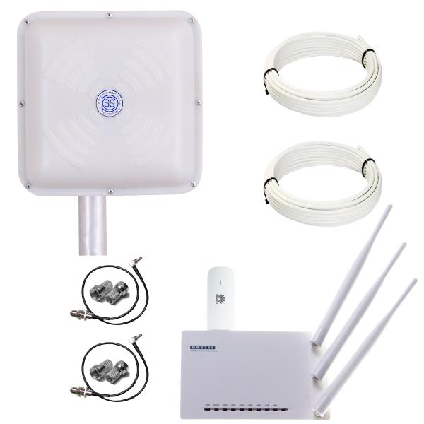 Готовый 4G WiFi интернет комплект HomeWiFi MIMO для сельской местности