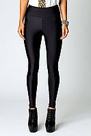 Красивые женские черные лосины леггинсы с высокой талией ( завышенной посадкой), для спорта и ежедневно