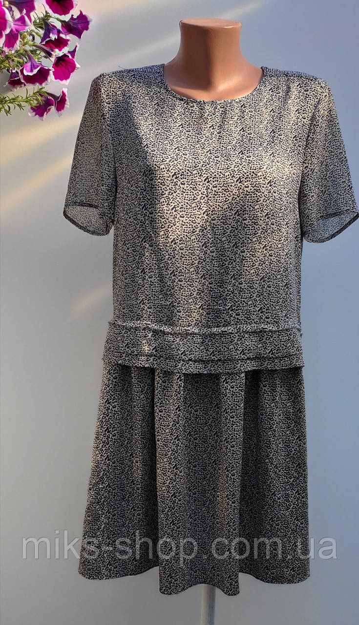 Роскошное летнее платье с карманами размер наш 50 (к-37)