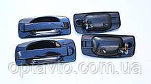 Евро ручки Ваз 2110, 2111, 2112, 2170, 2172 дверные наружные / черный металлик