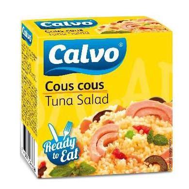 Салат з тунцем CALVO COUS COUS 150г 24 шт/ящ 23126
